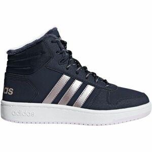 adidas HOOPS MID 2.0 K modrá 33 - Dětská volnočasová obuv