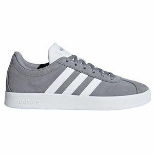 adidas VL COURT 2.0 K šedá 4 - Dětská volnočasová obuv