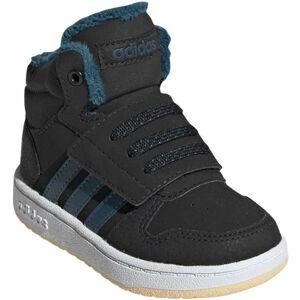 adidas HOOPS MID 2.0 I černá 20 - Dětská volnočasová obuv