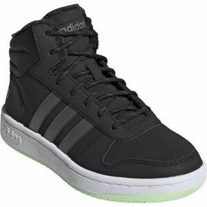 adidas HOOPS MID 2.0 K tmavě šedá 33 - Dětská zimní obuv