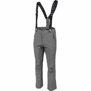 ALPINE PRO KERES šedá M - Pánské lyžařské kalhoty