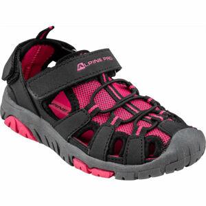 ALPINE PRO EAKY růžová 31 - Dětská letní obuv