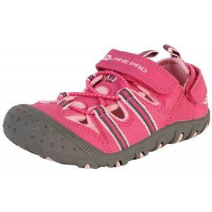 ALPINE PRO FOLEY růžová 34 - Dětská letní obuv