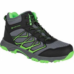 ALPINE PRO JACOBO MID zelená 34 - Dětská outdoorová obuv