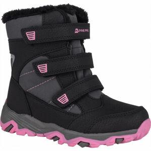 ALPINE PRO KURTO růžová 30 - Dětská zimní obuv