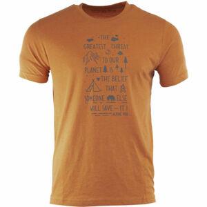 ALPINE PRO SINDR hnědá S - Pánské tričko