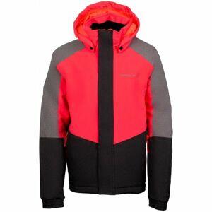 ALPINE PRO RONO růžová 164-170 - Dívčí lyžařská bunda
