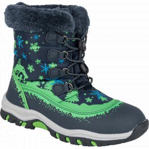 ALPINE PRO TREJO bílá 33 - Dětská zimní obuv