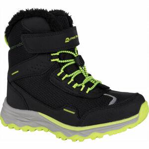 ALPINE PRO VESO šedá 30 - Dětská zimní obuv