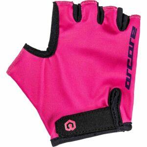 Arcore LUKE růžová 4 - Dětské cyklistické rukavice