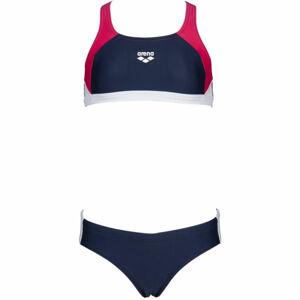 Arena G REN TWO PIECES tmavě modrá 6-7 - Dívčí dvoudílné plavky