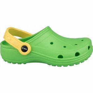 Aress ZABKI zelená 33 - Dětské pantofle