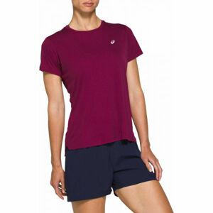 Asics SILVER SS TOP fialová M - Dámské běžecké triko