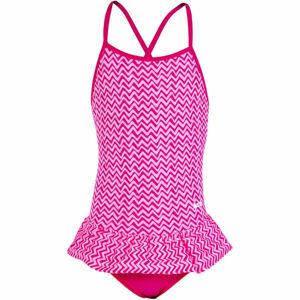 Axis VOLÁNEK PLAVKY VCELKU DÍVČÍ růžová 116 - Dívčí jednodílné plavky