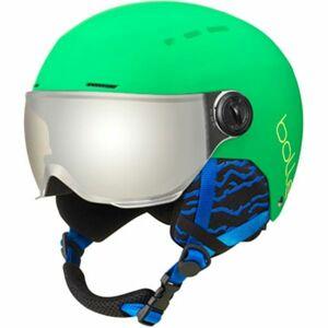 Bolle QUIZ VISOR zelená (52 - 55) - Dětská lyžařská helma se štítem