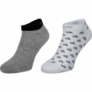 Calvin Klein MEN LINER 2P ALL OVER CK LOGO EDUARDO  43 - 46 - Pánské ponožky