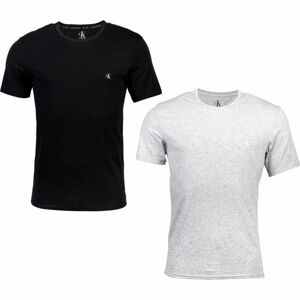 Calvin Klein S/S CREW NECK 2PK černá M - Sada pánských triček
