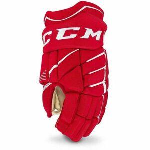 CCM JETSPEED 370 JR červená 10 - Dětské hokejové rukavice