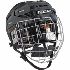 CCM FITLITE 3DS COMBO JR černá NS - Dětská hokejová helma