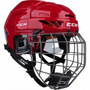 CCM FITLITE 90 COMBO SR červená (57 - 62) - Hokejová helma
