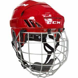 CCM FL60C SR COMBO červená L - Hokejová helma