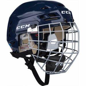 CCM TACKS 110 COMBO SR modrá (50 - 54) - Hokejová helma