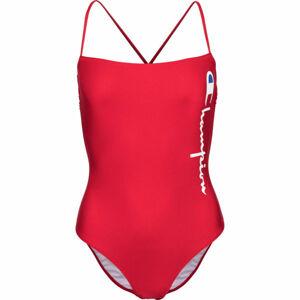 Champion SWIMMING SUIT červená S - Dámské jednodílné plavky