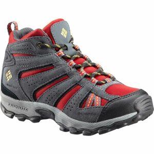 Columbia YOUTH NORTH PLAINS MID WP červená 4 - Dětská zimní outdoorová obuv