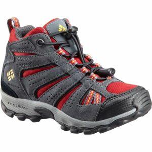 Columbia CHILDREN NORTH PLAINS MID WP červená 13 - Dětská zimní outdoorová obuv