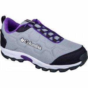 Columbia FIRECAMP SLEDDER 3 WP tmavě šedá 1 - Dětská outdoorová obuv