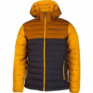 Columbia POWDER LITE HOODED JACKET žlutá XL - Pánská bunda