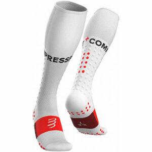 Compressport FULL SOCKS RUN bílá T2 - Kompresní běžecké podkolenky