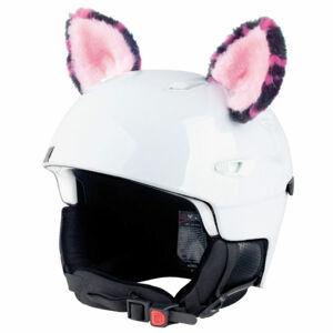 Crazy Ears KOČKA RŮŽOVÁ černá  - Uši na helmu