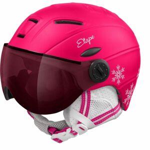 Etape RIDER PRO růžová (53 - 55) - Dětská lyžařská přilba s visorem