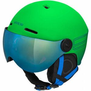 Etape SPEEDY PRO zelená (55 - 56) - Dětská lyžařská přilba s visorem