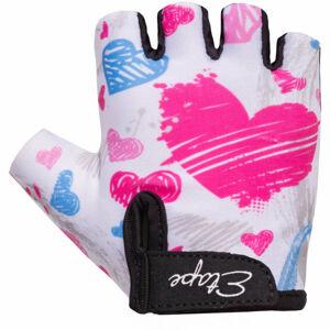 Etape TINY bílá 3-4 - Dětské cyklistické rukavice