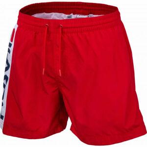 Fila HITOMI BEACH SHORTS červená XL - Pánské šortky