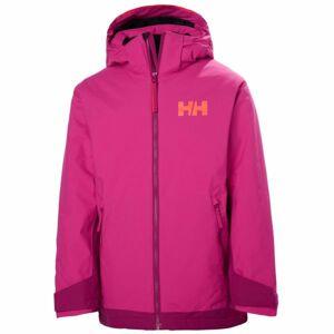 Helly Hansen JR HILLSIDE JACKET růžová 12 - Dětská lyžařská bunda