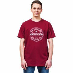 Horsefeathers HALLMARK T-SHIRT červená S - Pánské tričko