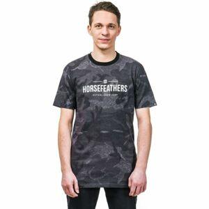 Horsefeathers MELWILL SS T-SHIRT tmavě šedá S - Pánské tričko