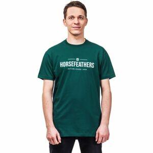 Horsefeathers MELWILL SS T-SHIRT tmavě zelená S - Pánské tričko