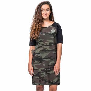 Horsefeathers IVET DRESS tmavě zelená XS - Dámské šaty