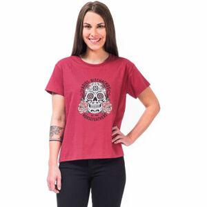 Horsefeathers MEXICANA TOP červená M - Dámské tričko