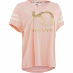 KARI TRAA VILDE TEE světle růžová M - Dámské tričko