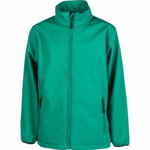 Kensis RORI JR zelená 164-170 - Chlapecká softshellová bunda