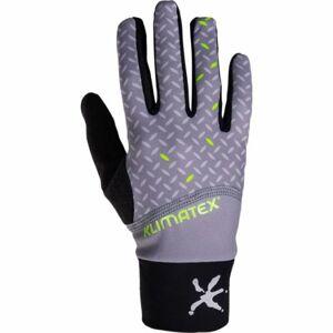 Klimatex LUBO šedá L - Pánské střečové prstové rukavice