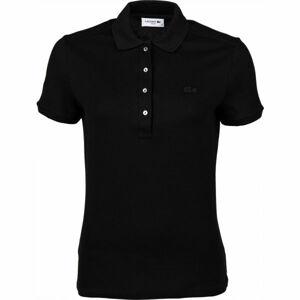 Lacoste WOMEN S/S POLO černá M - Dámské polo tričko