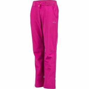 Lewro CARNO růžová 152-158 - Dětské softshellové kalhoty