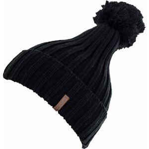 Lewro GABY černá 8-11 - Dívčí pletená čepice