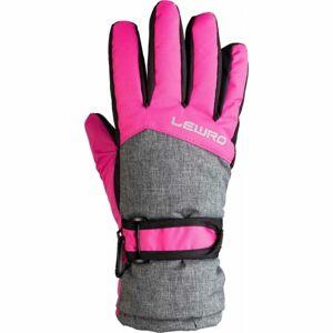 Lewro NALANI růžová 12-15 - Dětské lyžařské rukavice